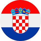 Croatia Flag Vector Round Flat Icon