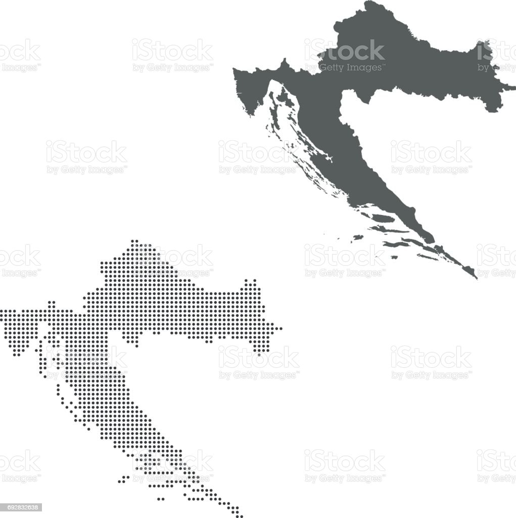 Croatia Map Stock Vector Art & More Images of Cartography | iStock