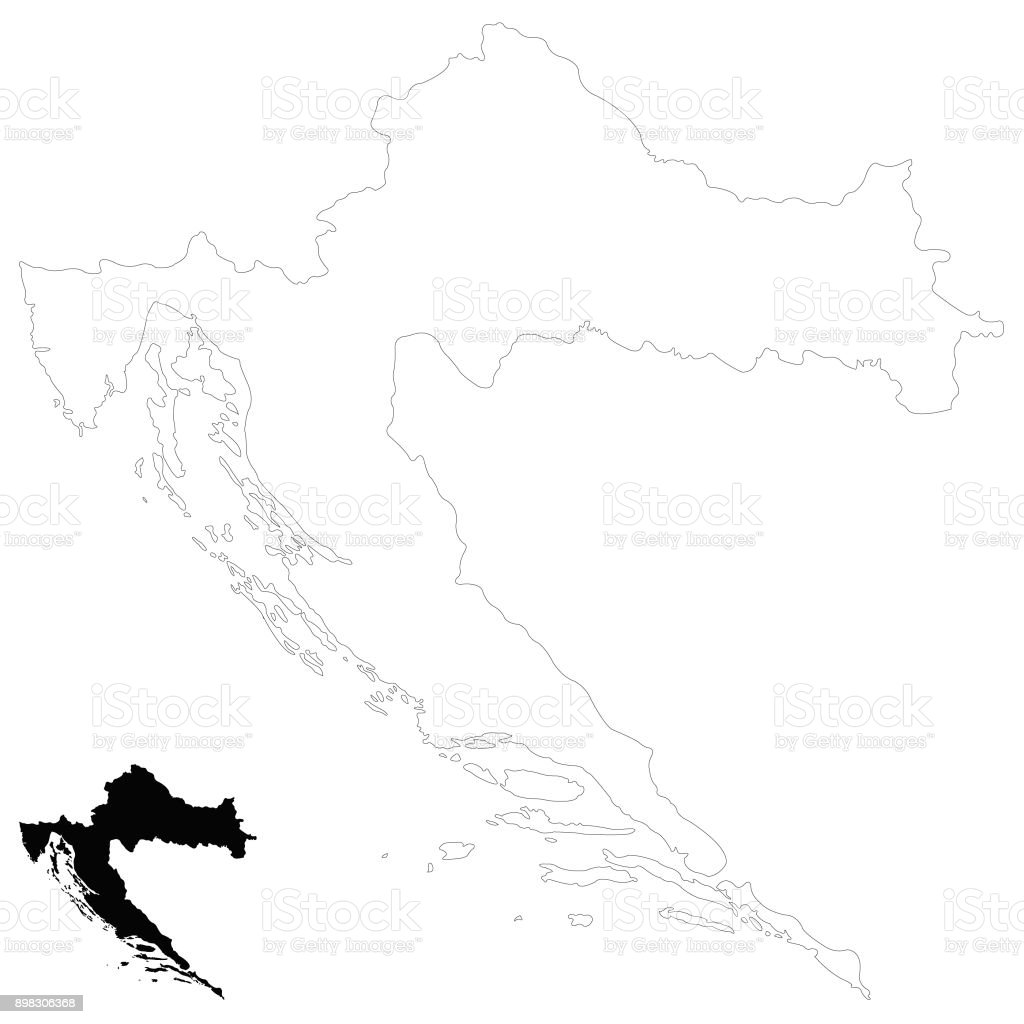 Croatia Map Stock Vector Art & More Images of Balkans 898306368 | iStock