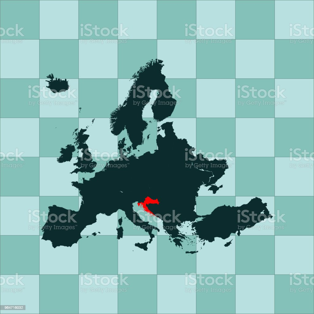 Croatia map royalty-free croatia map stock vector art & more images of cartography