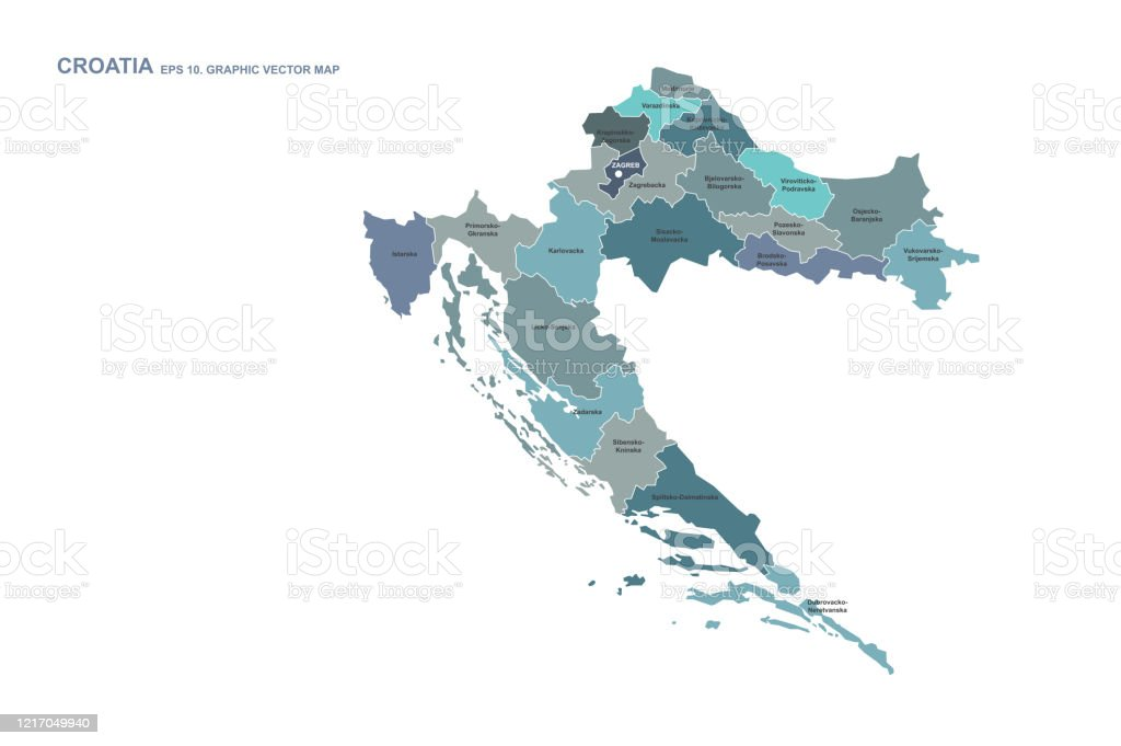 Croatia Map Vector Map Of Croatia In Europe Stock Illustration Download Image Now Istock