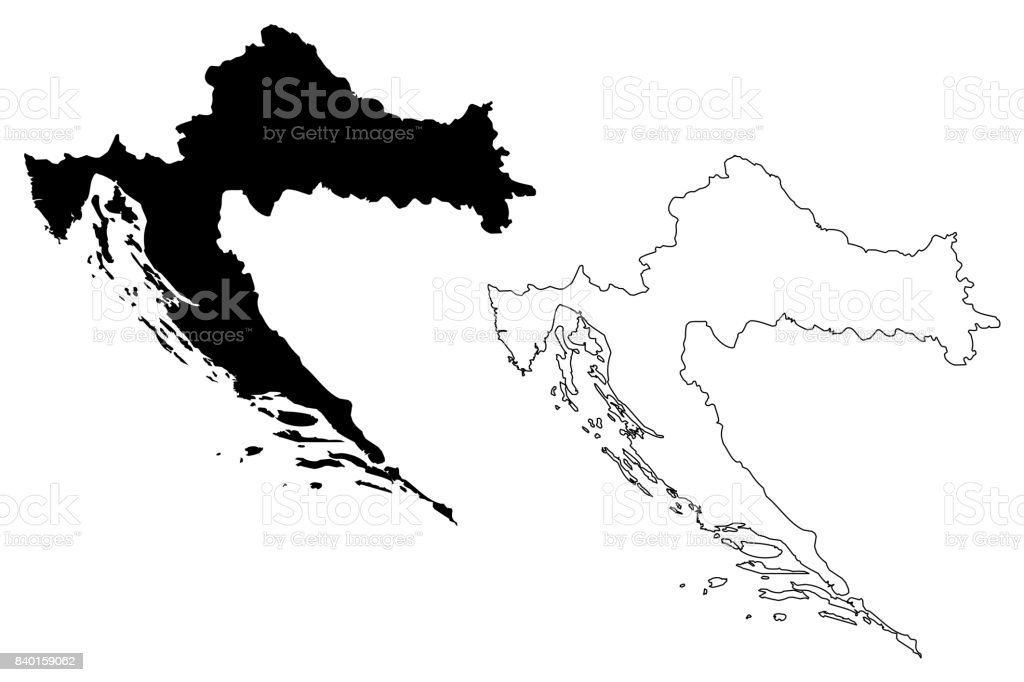 Croatia Map Vector Stock Vector Art & More Images of Abstract ...