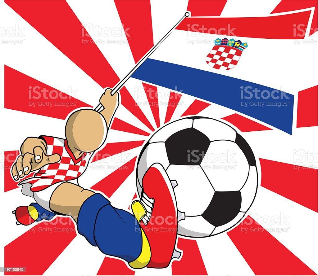 Croácia Jogador de futebol dos desenhos animados, vetor eps10 - ilustração de arte em vetor