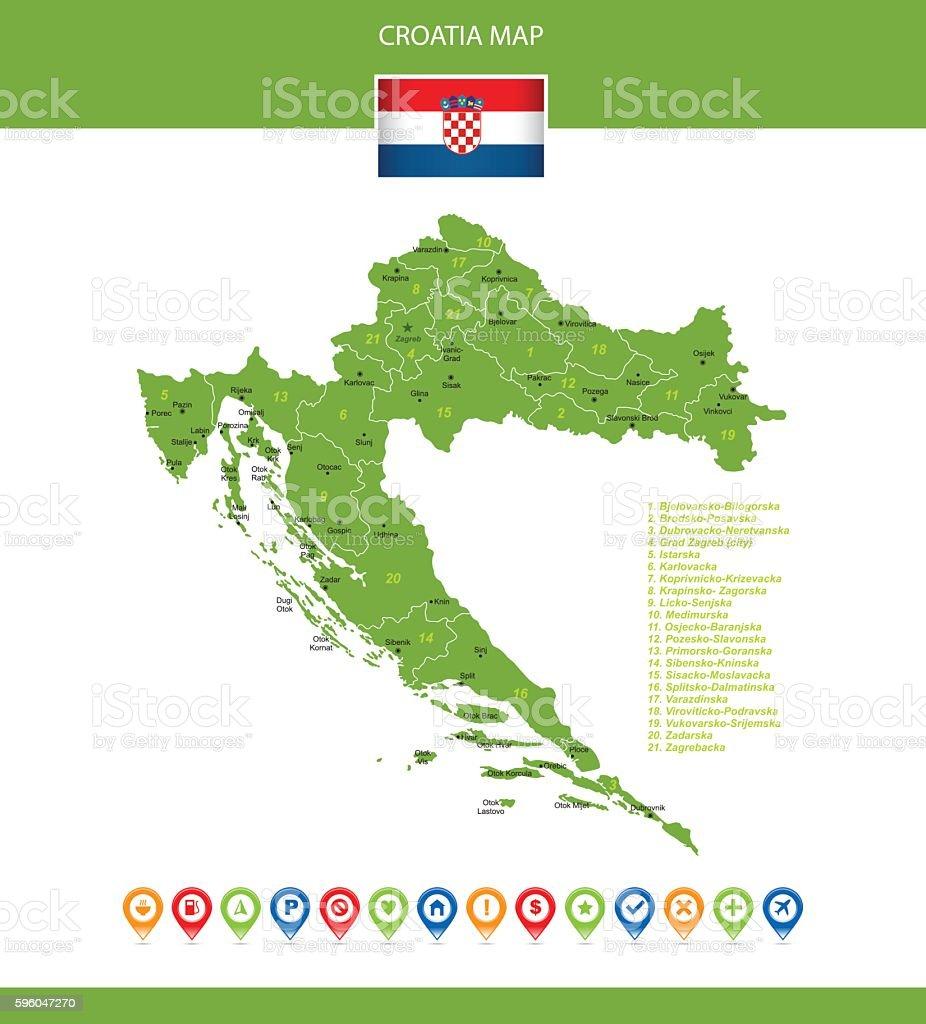 Croatia Vector Map royalty-free croatia vector map stock vector art & more images of arrow symbol
