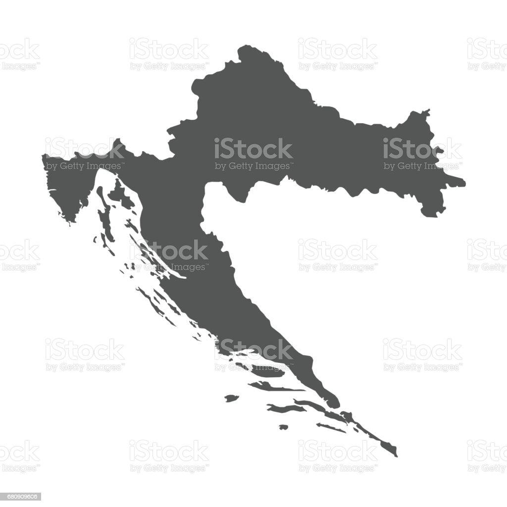 Croatia vector map. royalty-free croatia vector map stock vector art & more images of black color