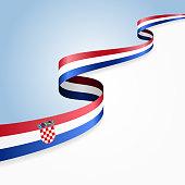 Croatian flag background. Vector illustration