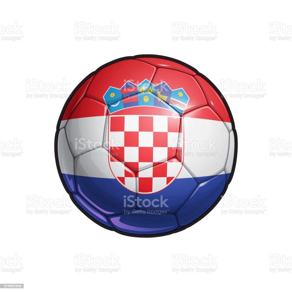 Fútbol bandera croata - balón de fútbol - ilustración de arte vectorial