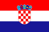 Croatian national flag, official flag of Croatia accurate colors, true color