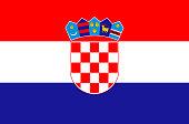 Croatian national flag, official flag of Croatia accurate colors, true color