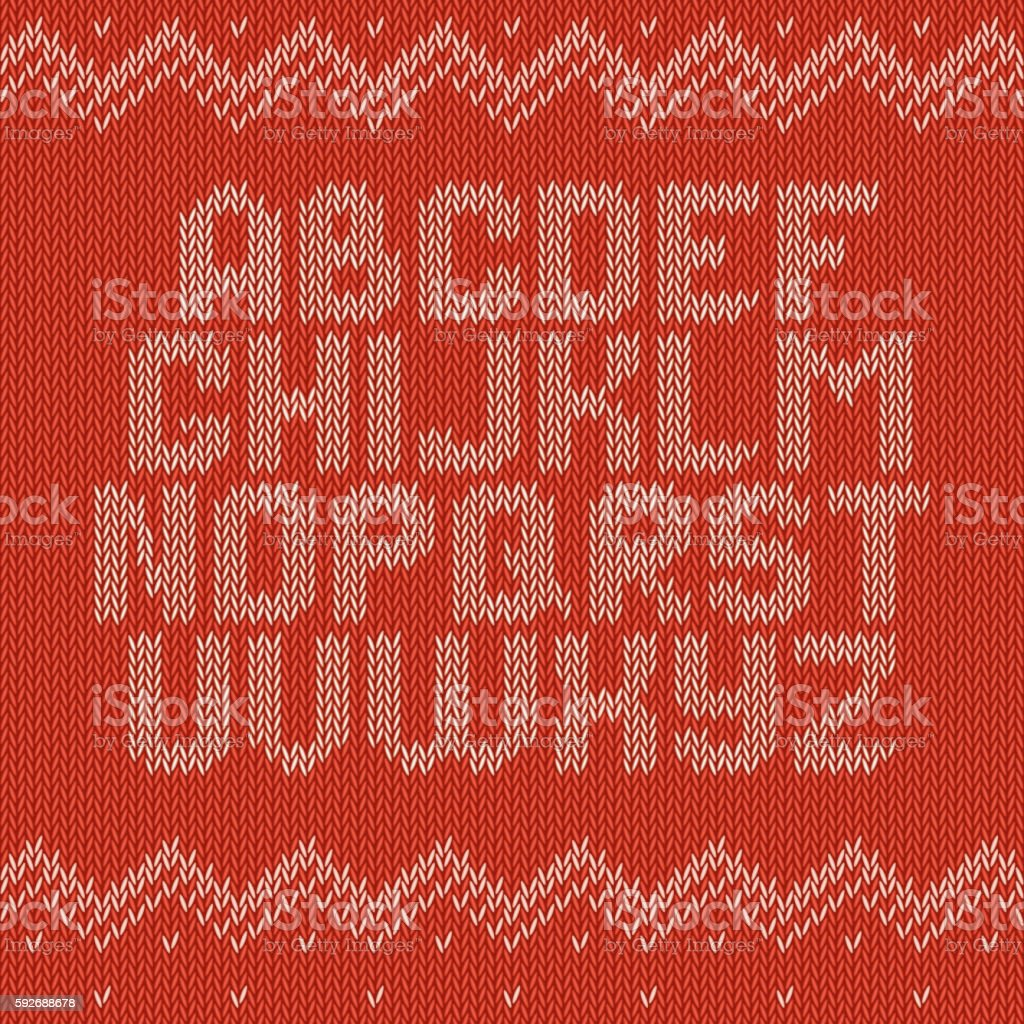 Crochet font knitted ornament - ilustración de arte vectorial