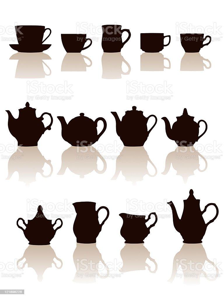 陶器設定しますベクトルイラスト イラストレーションのベクターアート