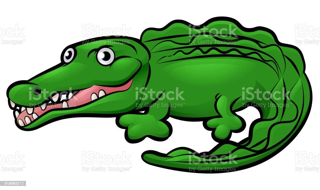 Krokodilalligatortier Comicfigur Stock Vektor Art und mehr Bilder ...