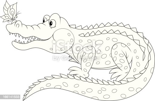 Black Alligator Clipart