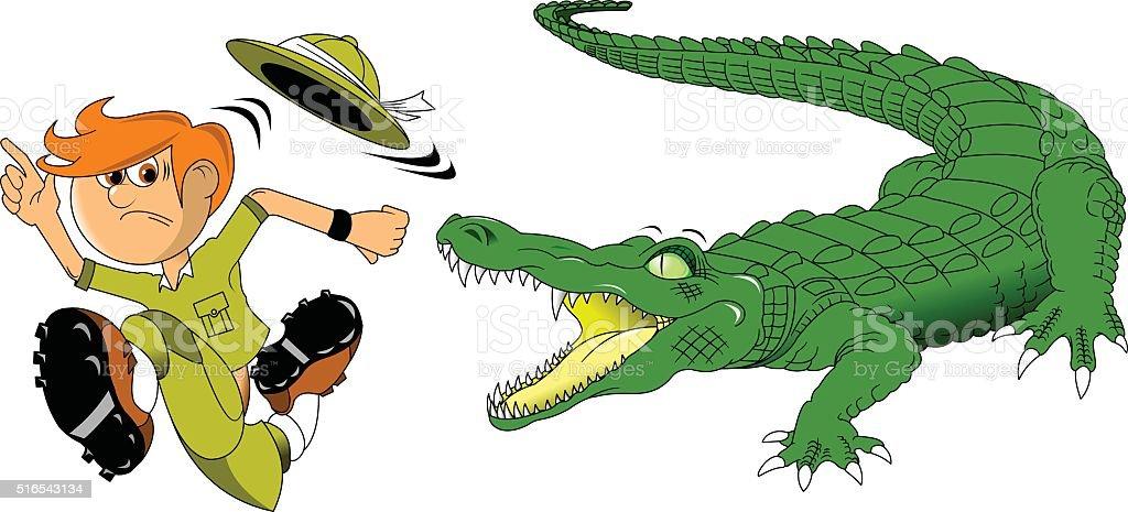 royalty free nile crocodile clip art vector images illustrations rh istockphoto com Nile Crocodile Skeleton Nile Crocodile Cartoon