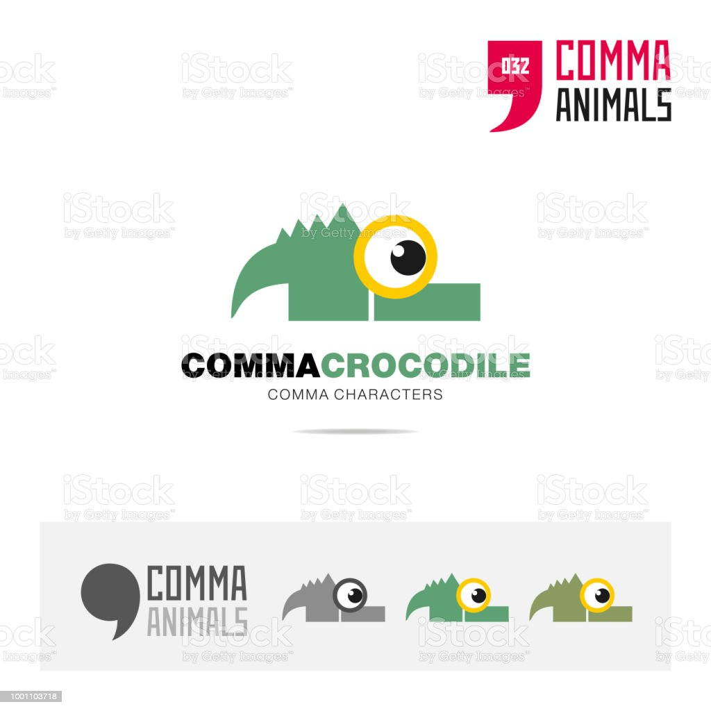 crocodile animal concept icon template for modern brand identity and