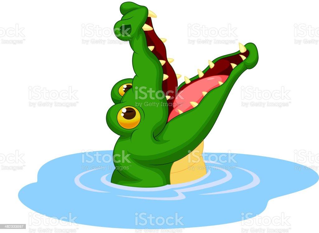 Crocodile dessin anim bouche ouverte son cliparts - Image crocodile dessin ...