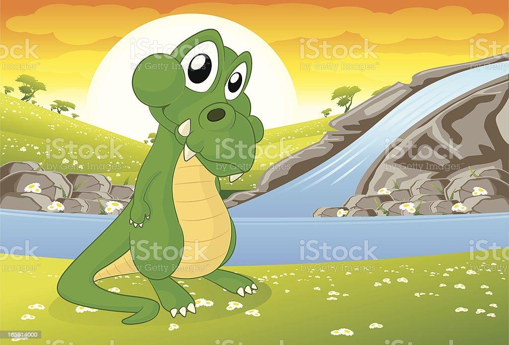 Crocodile Cartoon vector art illustration