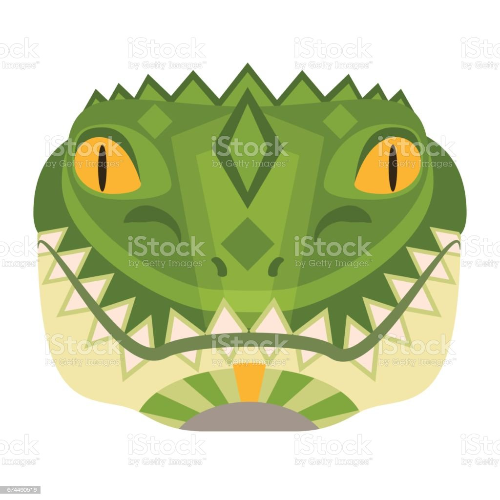 Crocodile Head icon. Alligator vector decorative Emblem. vector art illustration