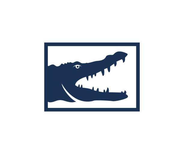 crocodile icon - alligator stock illustrations