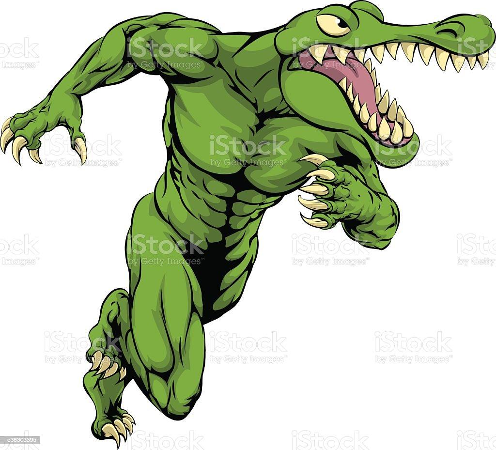 Crocodile Or Alligator Mascot Running Stock Vector Art & More Images ...
