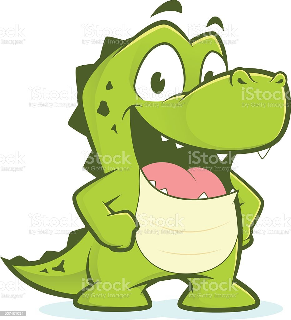 Crocodile Or Alligator With Hands On Hips Stock Vector Art  for Body Part Hip Clipart  110zmd