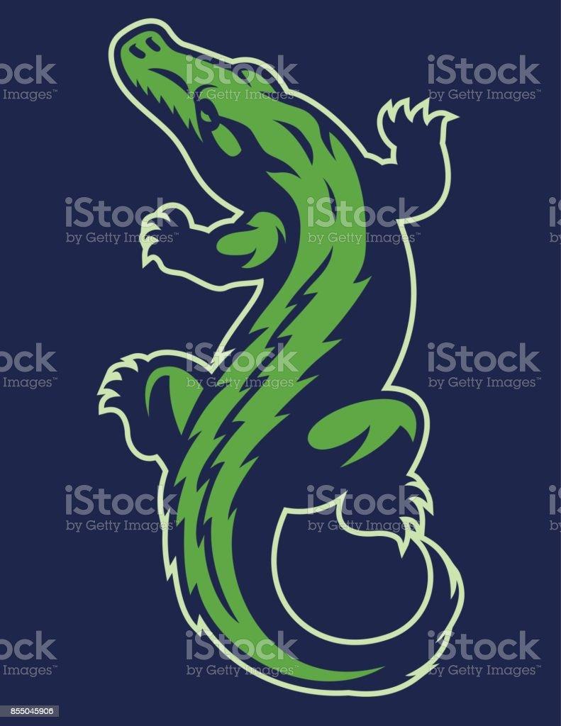 crocodile reptile mascot vector art illustration
