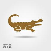 istock Crocodile silhouette vector icon 924111430