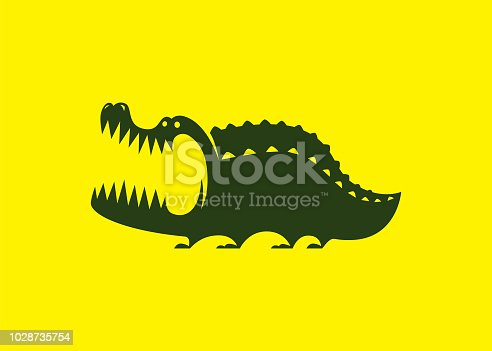 vector illustration of crocodile symbol