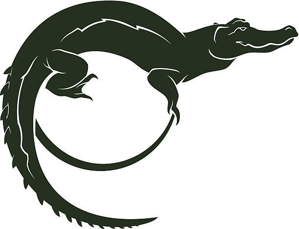 crocodile symbol - alligator stock illustrations