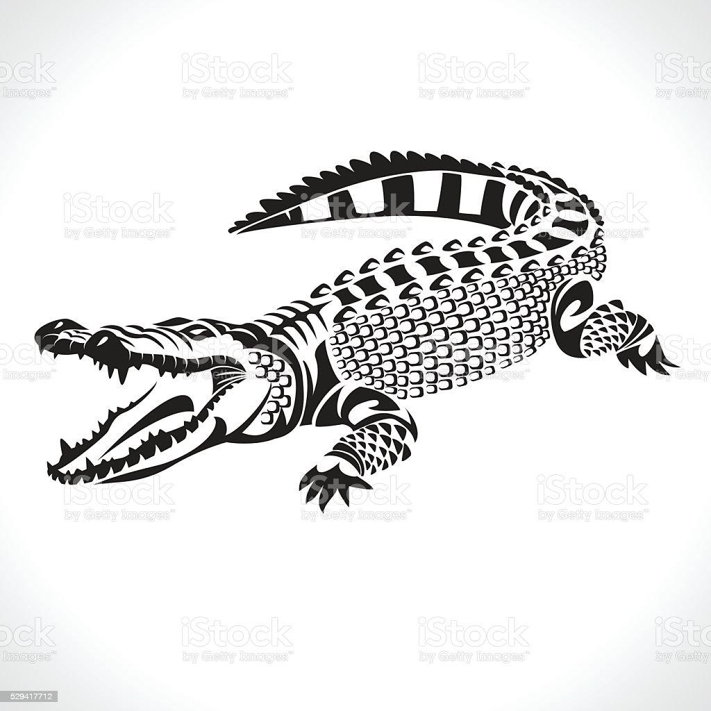 crocodile vector art illustration