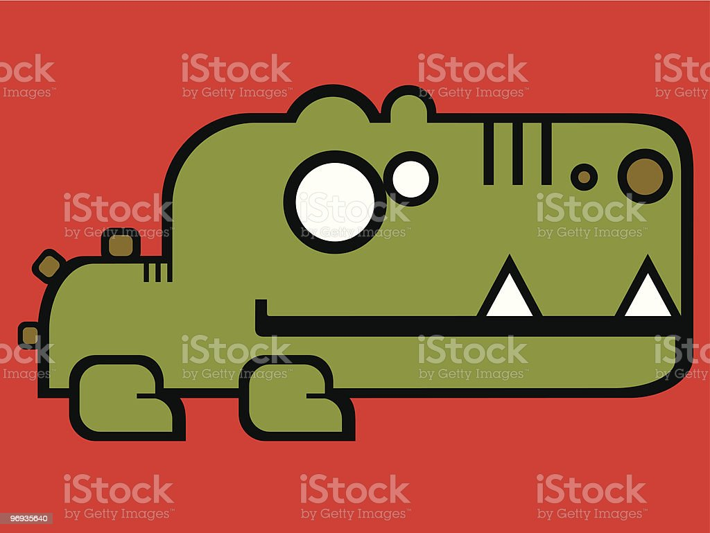 crocodile royalty-free crocodile stock vector art & more images of allegory painting