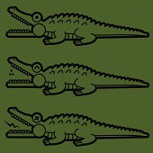 Crocodilian Open Mouth