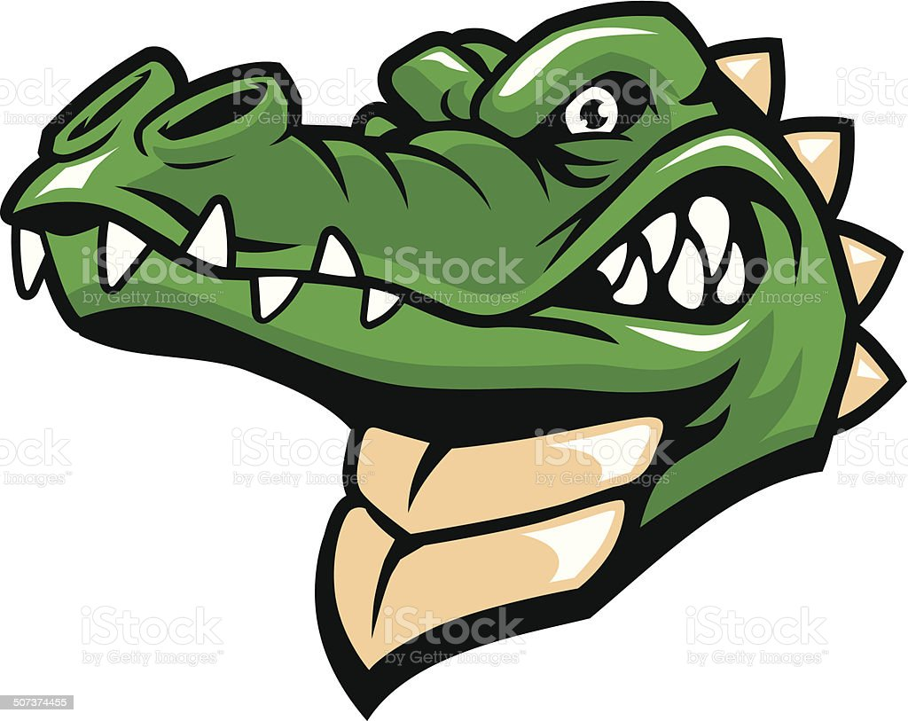 crocodille tête Mascotte - Illustration vectorielle