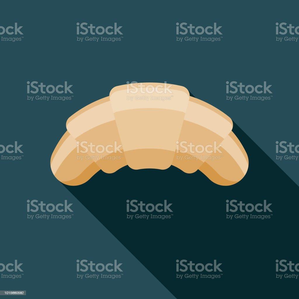 Croissant Flat Design Breakfast Icon vector art illustration