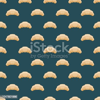 istock Croissant French Seamless Pattern 1047801886
