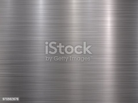 istock Crome Metal Textured Backgound 970562676