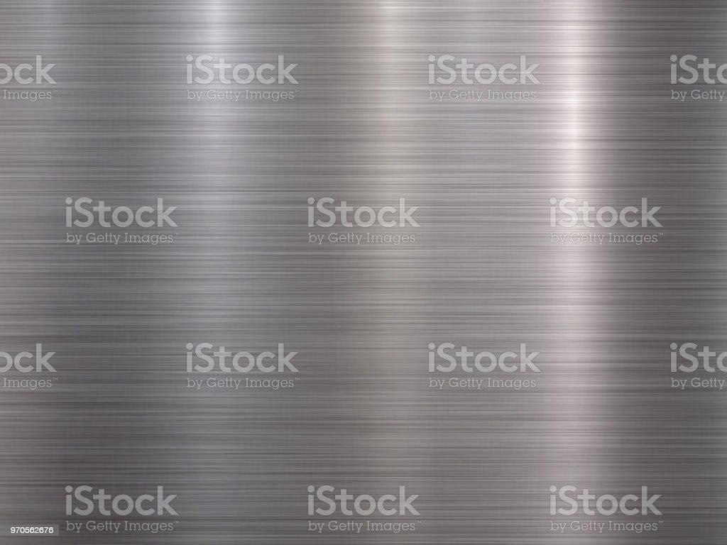 Crome Metal Textured Backgound vector art illustration