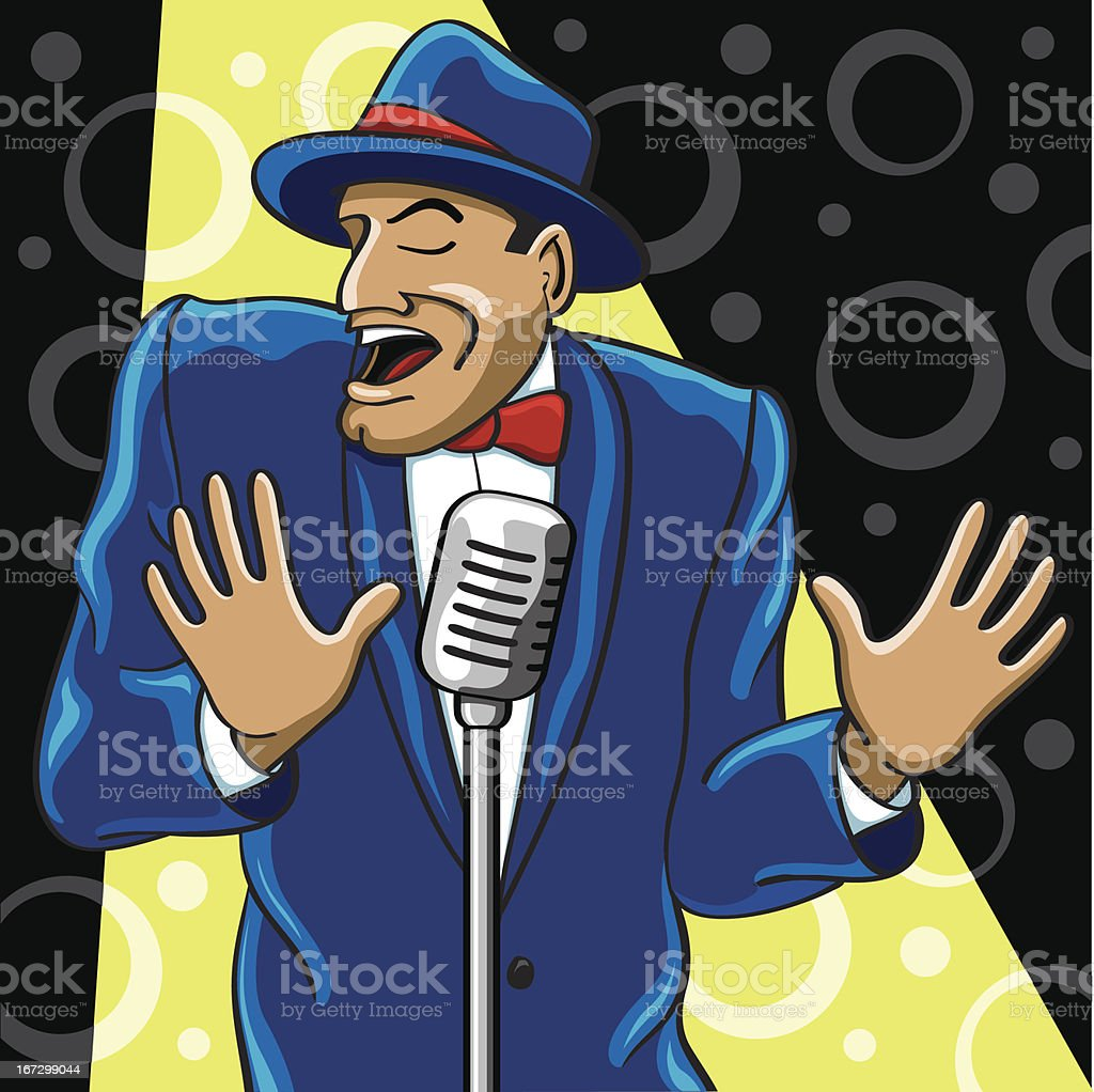 Crooner royalty-free stock vector art