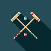 istock Croquet Game Flat Design Icon 1146577766