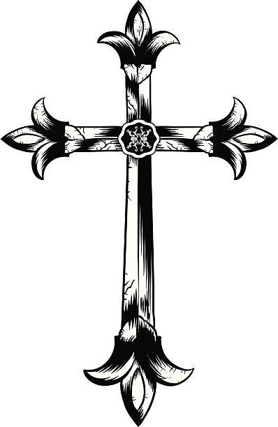 Cross 2 vector art illustration