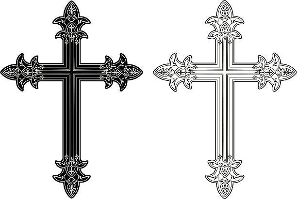 Cross 3 vector art illustration