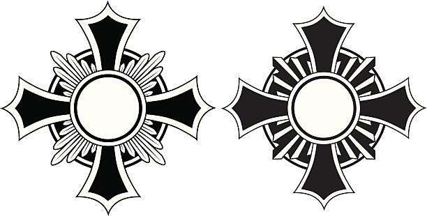 Cross 4 vector art illustration