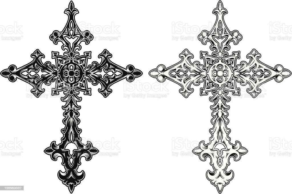 Cross 5 royalty-free stock vector art