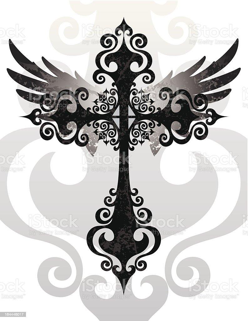 Cross Und Wings Lizenzfreies Stock Vektor Art Mehr Bilder Von Auferstehung