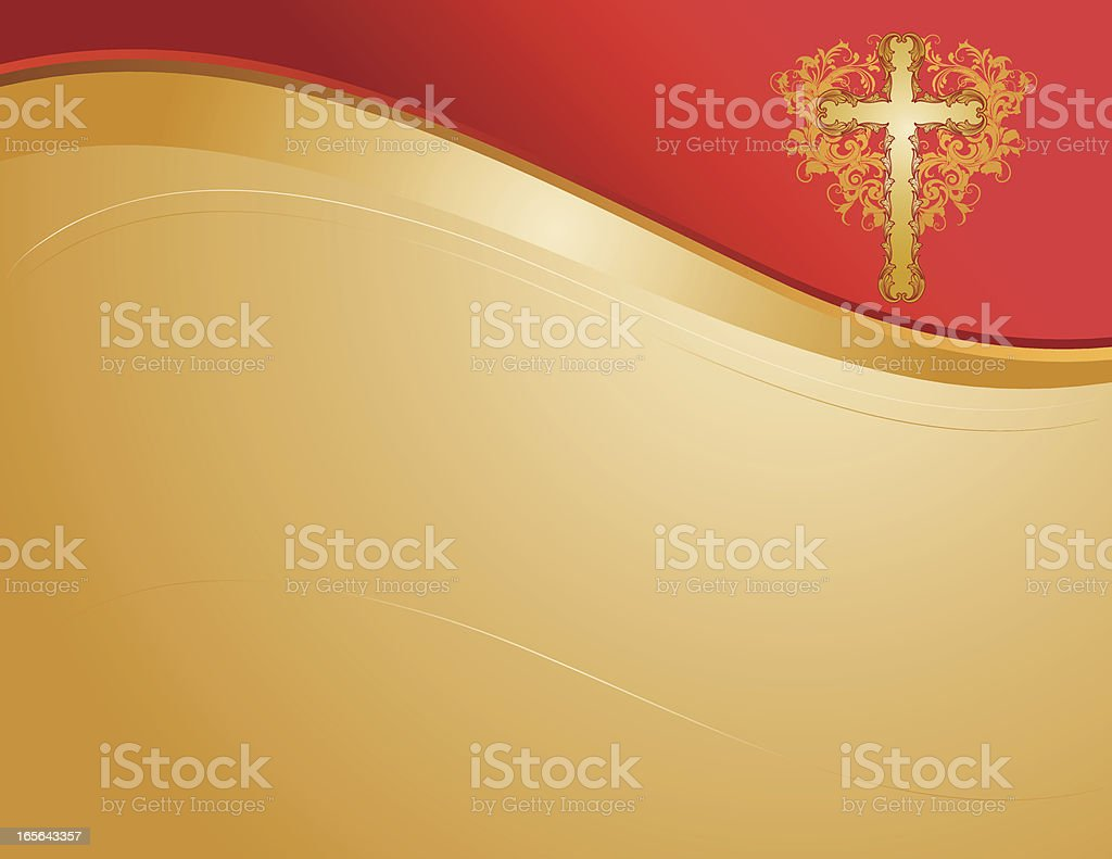 Cross Banner Page royalty-free stock vector art