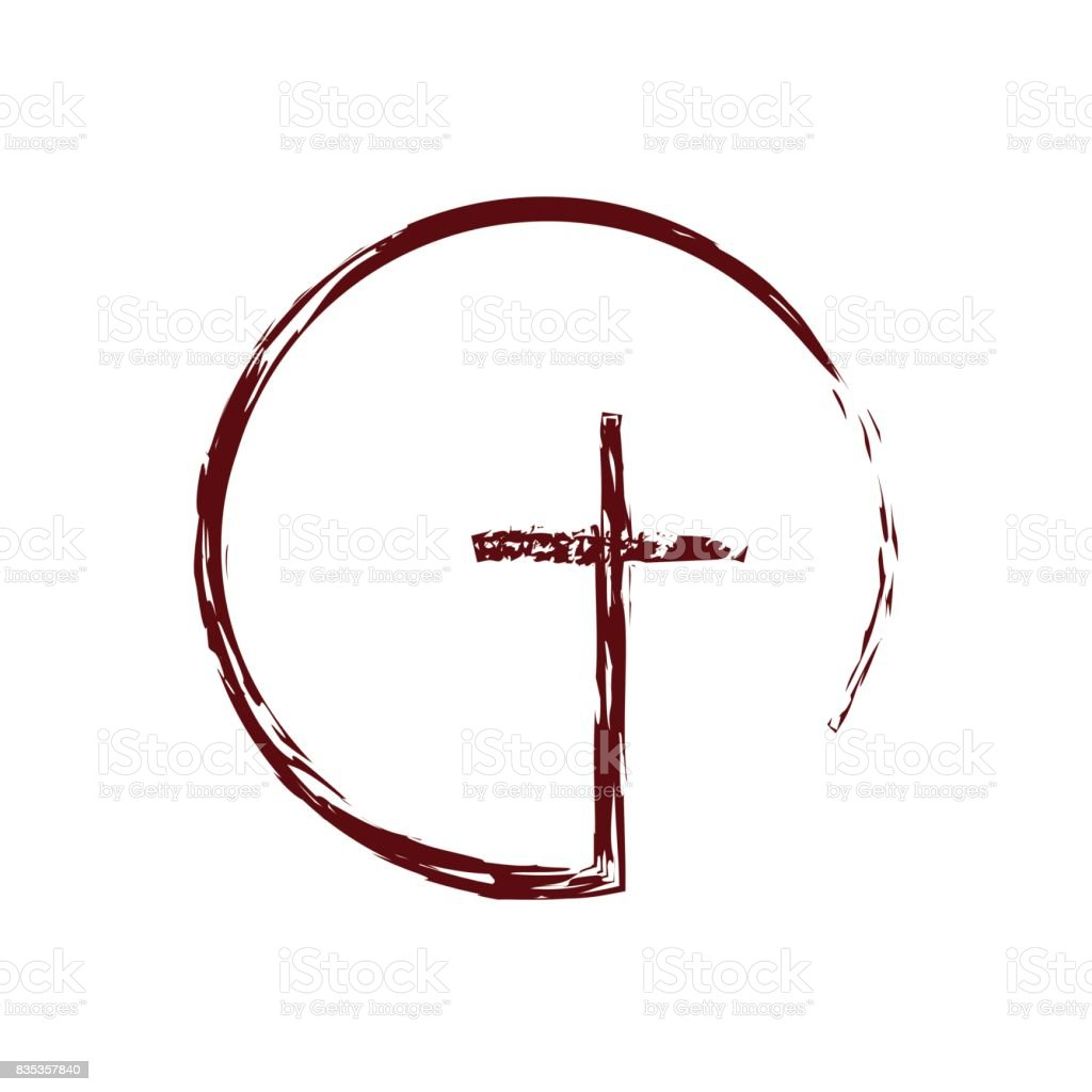 Cross brush royalty-free cross brush stock illustration - download image now