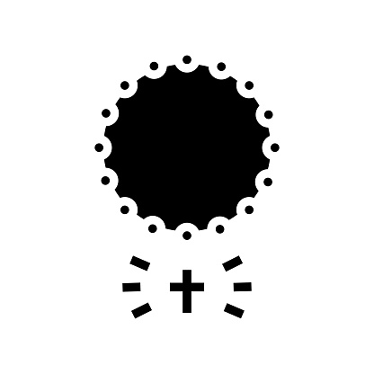 cross christianity glyph icon vector illustration