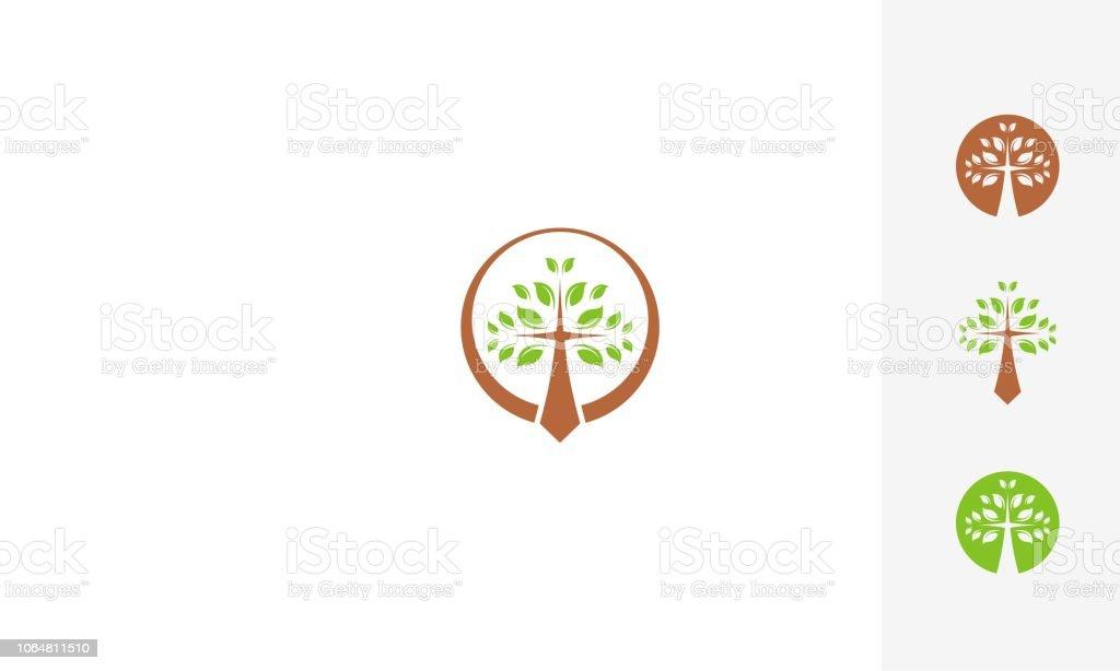 cross church religious logo vector icon royalty-free cross church religious logo vector icon stock illustration - download image now