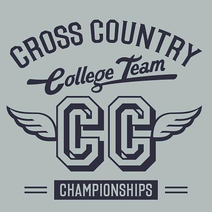 Cross Country College Team t-shirt design