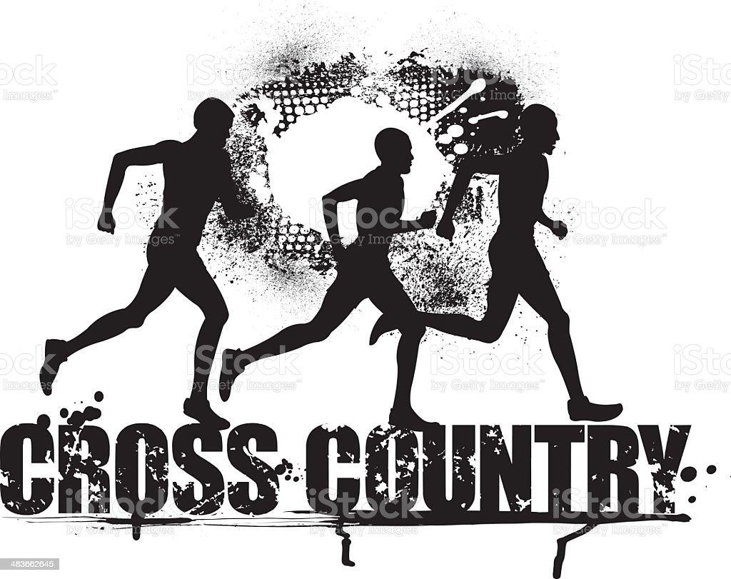 Cross country runner clipart